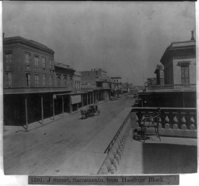 J street, Sacramento, from Hastings' Block