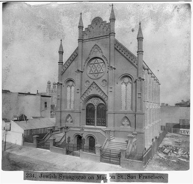 Jewish Synagogue on Mason Street, San Francisco