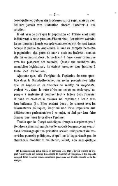 L'abolition de l'esclavage par l'Angleterre, la France, les Etats Unis : rapprochements /