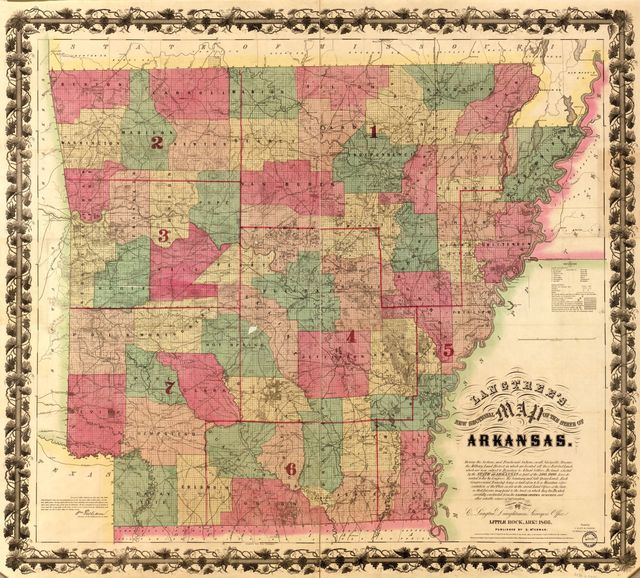 Langtree's new sectional map of the state of Arkansas /