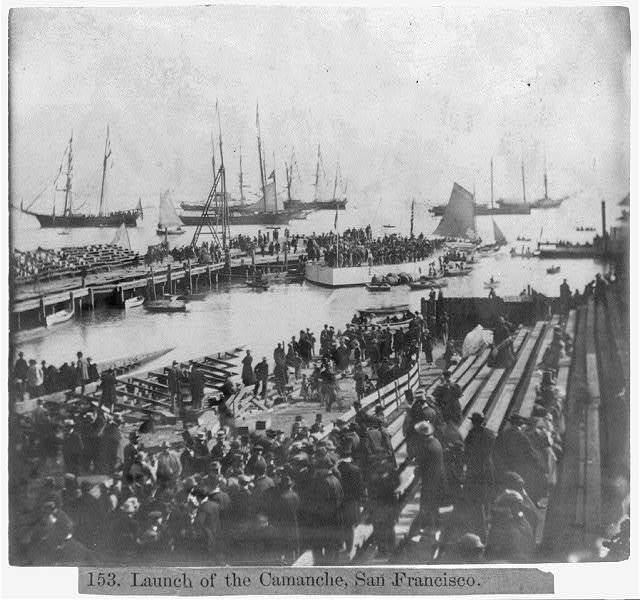 Launch of the Camanche, San Francisco