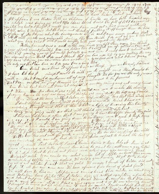 Letter from Mattie V. Thomas to Uriah W. Oblinger, November 4, 1866