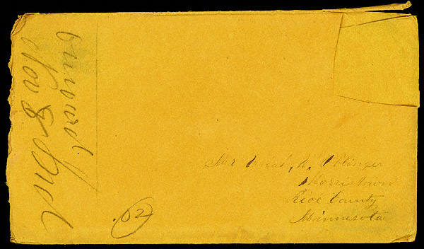 Letter from Mattie V. Thomas to Uriah W. Oblinger, November 4, 1866