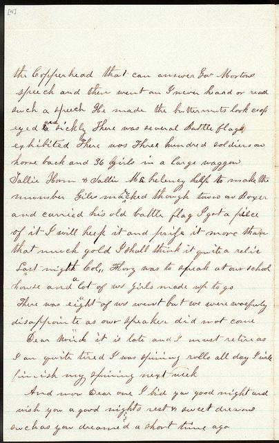 Letter from Mattie V. Thomas to Uriah W. Oblinger, October 6, 1866
