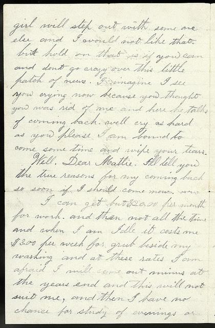 Letter from Uriah W. Oblinger to Mattie V. Thomas, January 6, 1866
