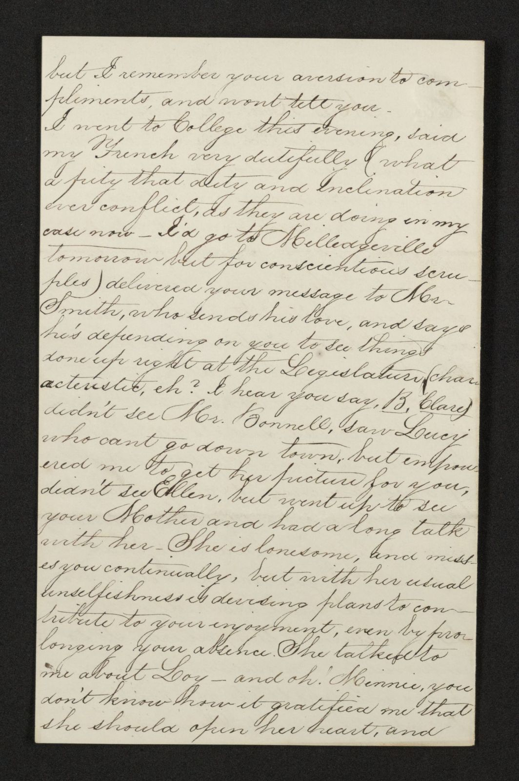 Lewis H. Machen Family Papers: Gresham Family Correspondence, 1834-1925; 1866