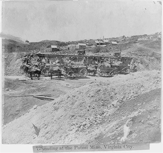 Loading at the Potosi Mine, Virginia City