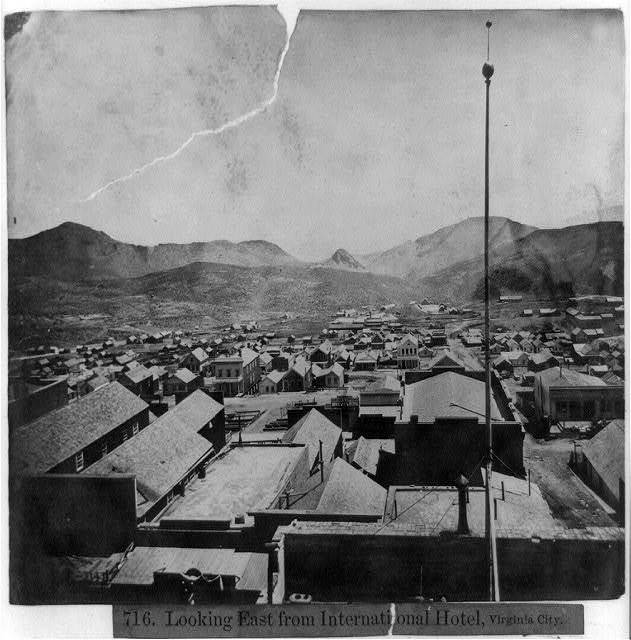 Looking east from International Hotel, Virginia City