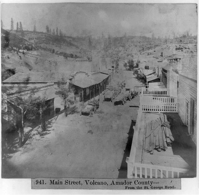 Main Street, Volcano, Amador County, Calif.