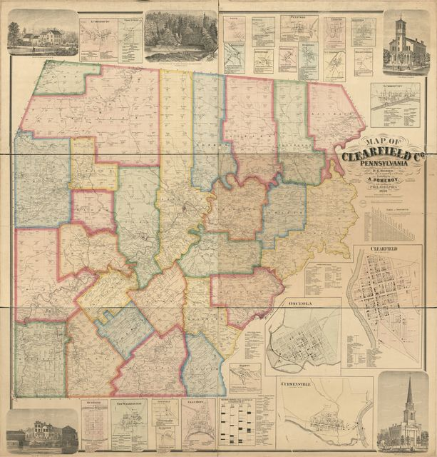 Map of Clearfield Co., Pennsylvania : from actual surveys & official records /