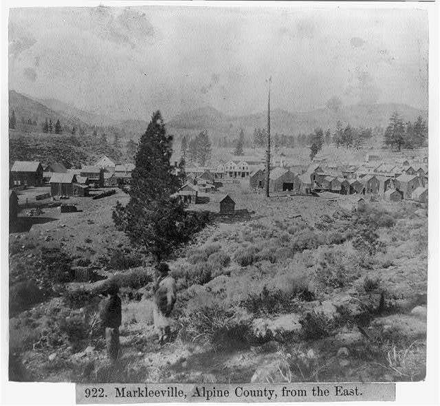 Markleeville, Alpine County, from the East