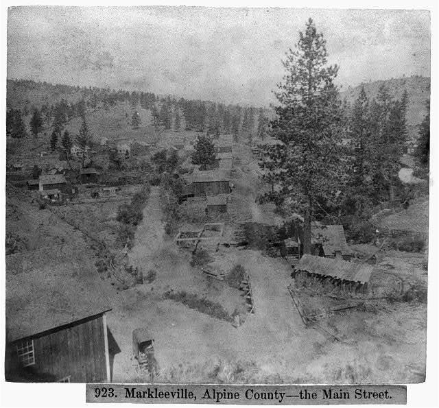 Markleeville, Alpine County--the Main Street