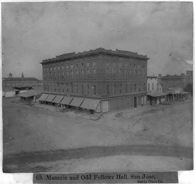 Masonic and Odd Fellows Hall, San José, Santa Clara County