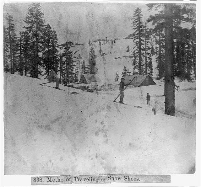 Metho[d] of traveling on snow shoes