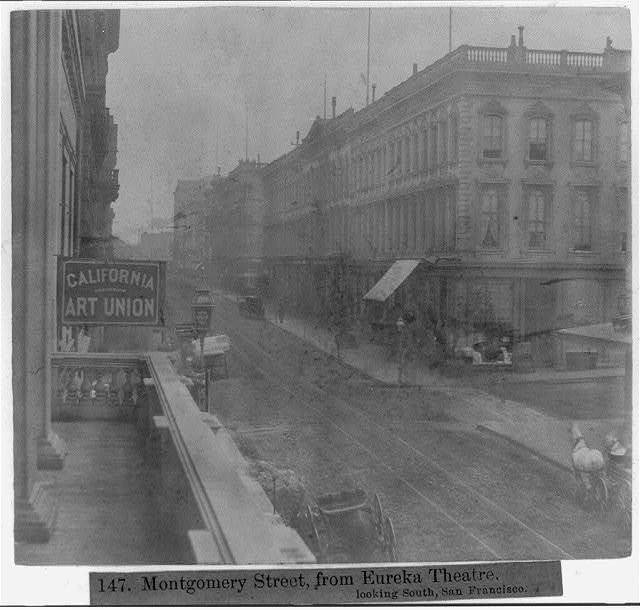 Montgomery Street, from Eureka Theatre, looking South, San Francisco