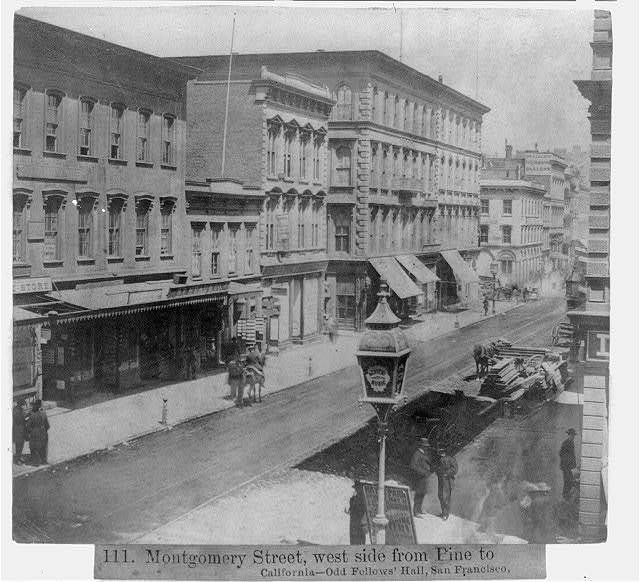Montgomery Street, west side from Pine to Calif., Odd Fellows Hall, San Francisco