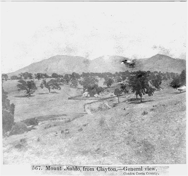 Mount Diablo, from Clayton--General View, Contra Costa County