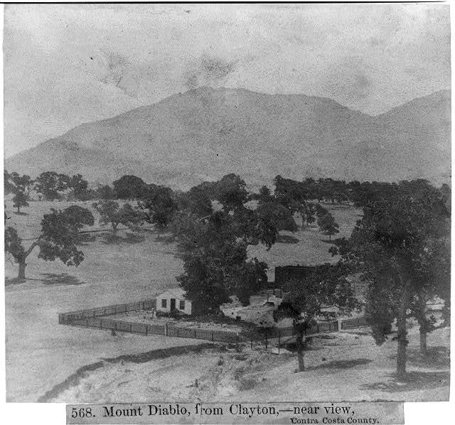 Mount Diablo, from Clayton, -- near view, Contra Costa County