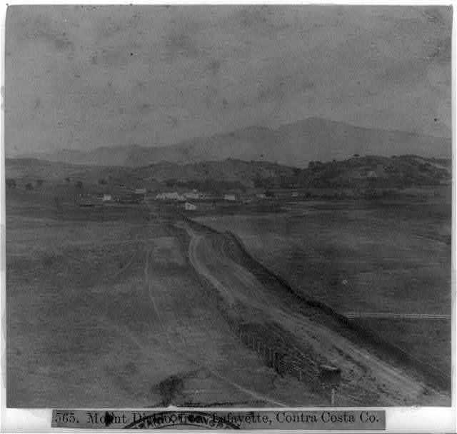Mount Diablo, from Lafayette, Contra Costa County