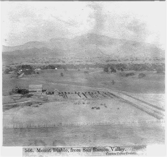 Mount Diablo, from San Ramon Valley - Contra Costa County