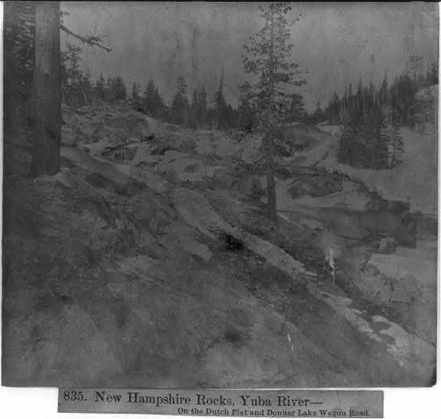 New Hampshire Rocks, Yuba River--on the Dutch Flat and Donner Lake Wagon Road