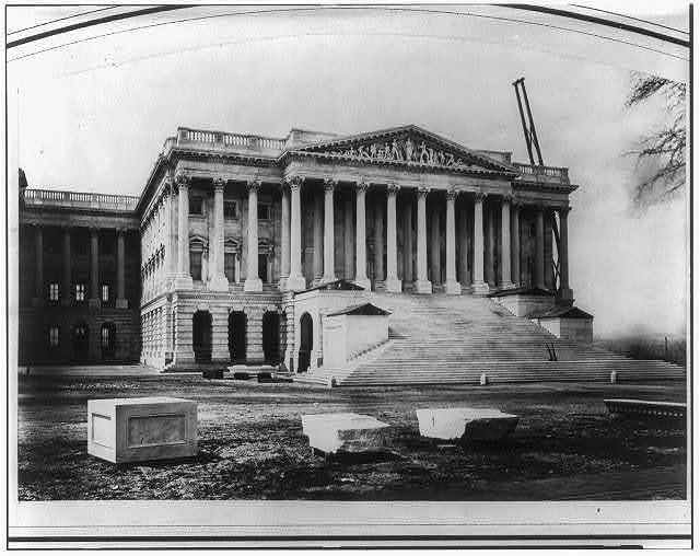 North Wing and Portico of the U.S. Capitol (Senate end - East Front)
