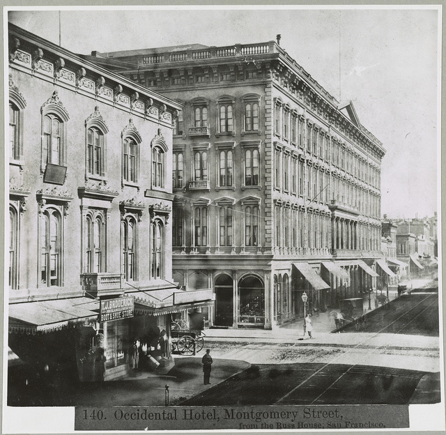 Occidental Hotel, Montgomery Street, from the Russ House, San Francisco