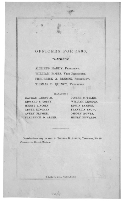 Order of services at the thirty-eight anniversary of the Boston seaman's friend society, at Tremont Temple, Wednesday, May 30, at 9 o'clock, A. M. Boston T. R. Marvin & Son, Printers.