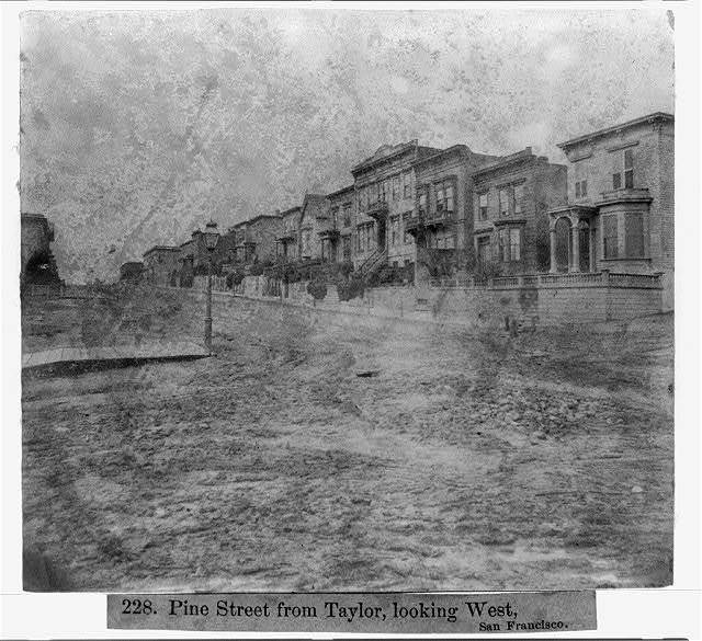 Pine Street from Taylor, looking West, San Francisco