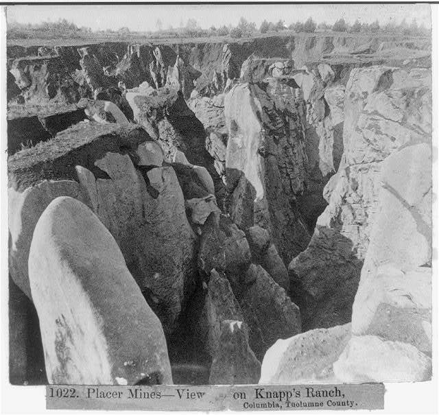 Placer Mines--View on Knapp's Ranch, Columbia, Tuolumne Co.