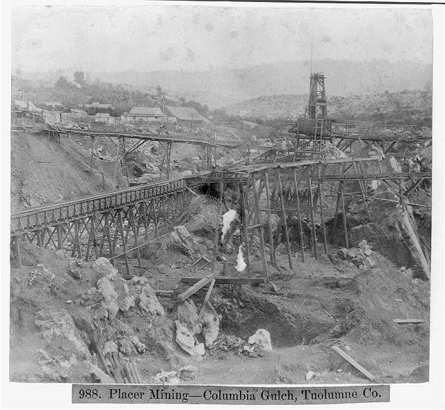 Placer Mining--Columbia Gulch, Tuolumne Co.