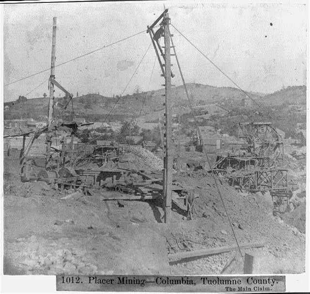 Placer Mining--Columbia, Tuolumne County - The Main Claim