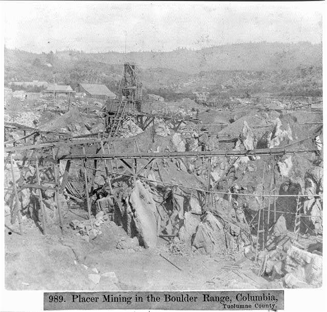 Placer Mining in the Boulder range, Columbia, Tuolumne County