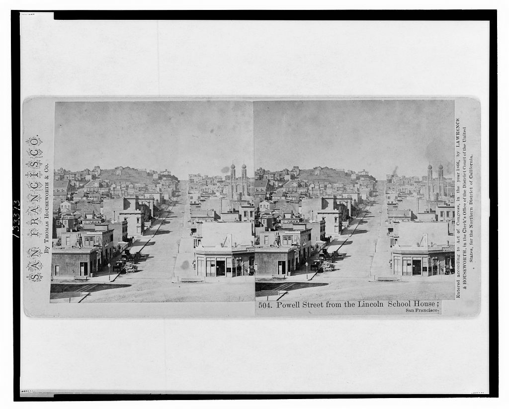 Powell Street from the Lincoln School House, San Francisco