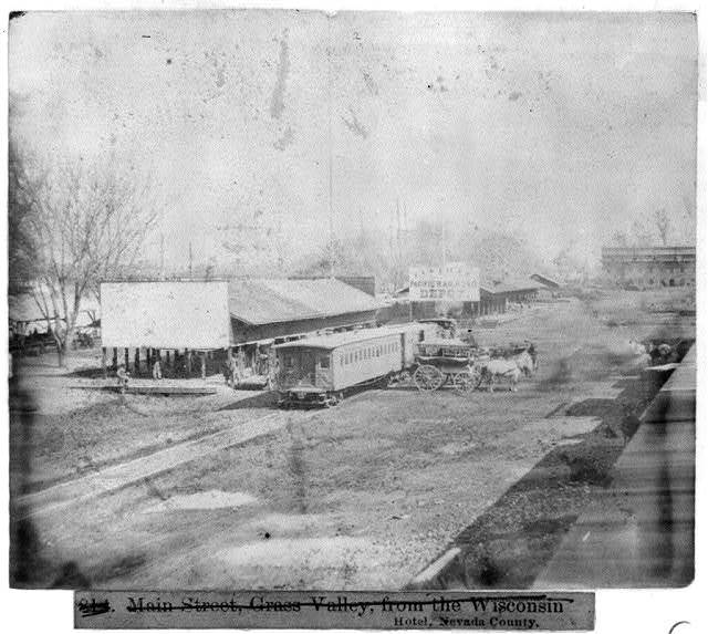 [Railroad depots on the levee, Sacramento, California]