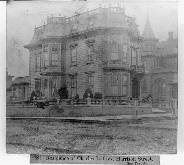 Residence of Charles L. Low, Harrison Street, San Francisco