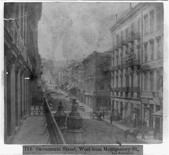 Sacramento Street, West from Montgomery St., San Francisco