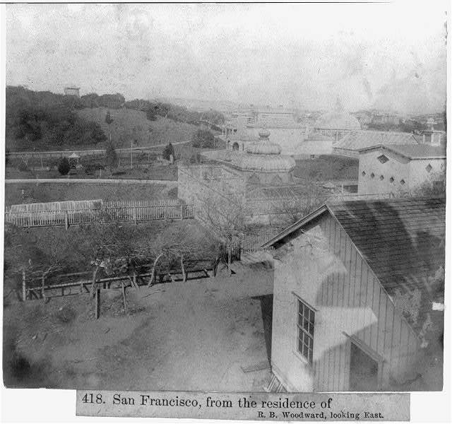 San Francisco from the residence of R.B. Woodward, looking East