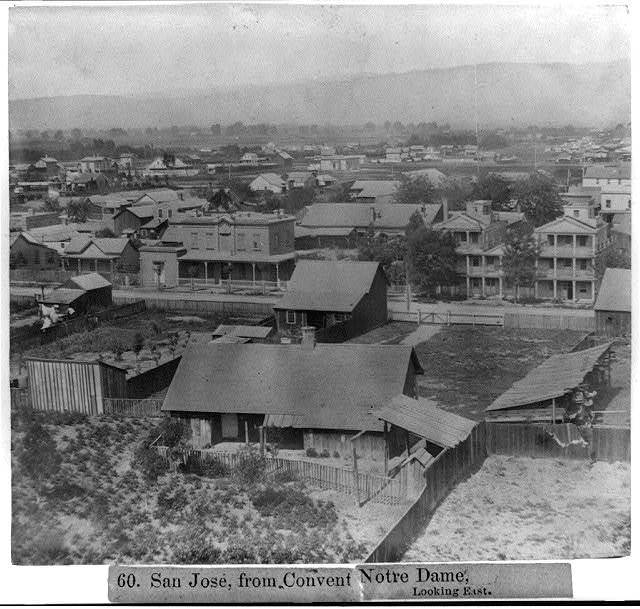 San José, from Convent Notre Dame, looking East