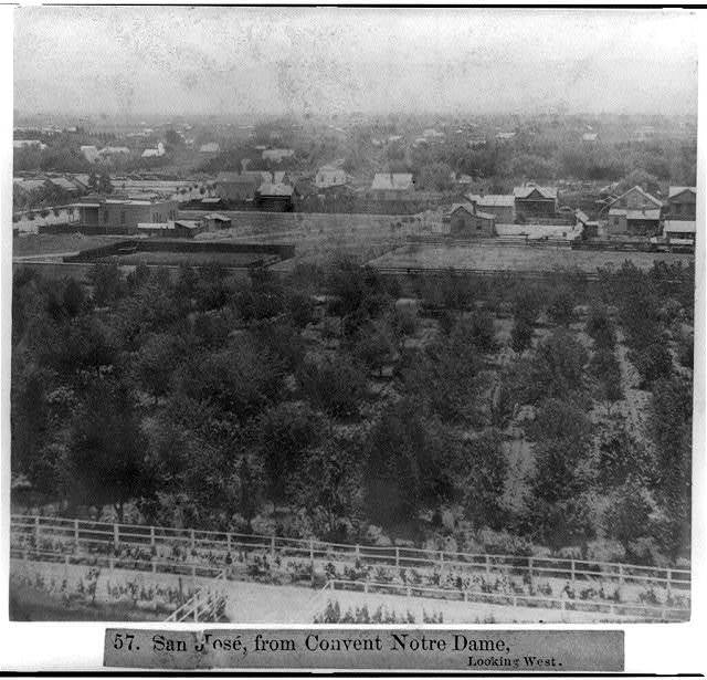 San José, from Convent Notre Dame, looking West