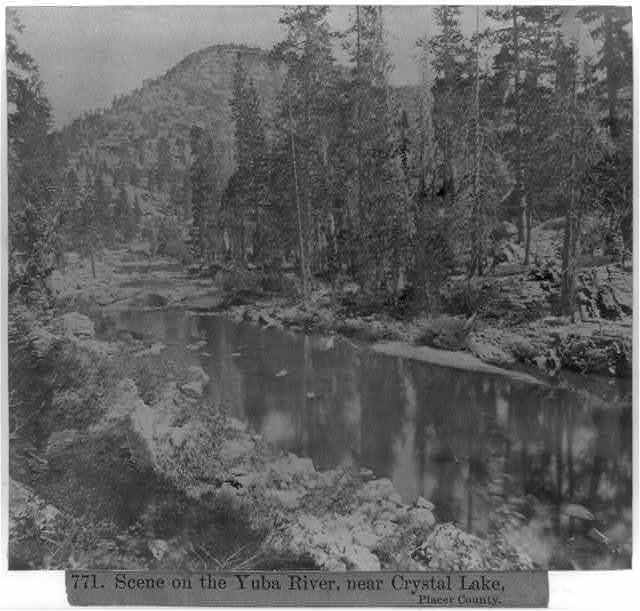 Scene on the Yuba River, near Crystal Lake, Placer County