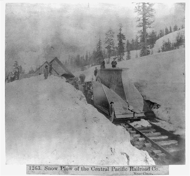 Snow Plow of the Central Pacific R.R. Company - Near Cisco
