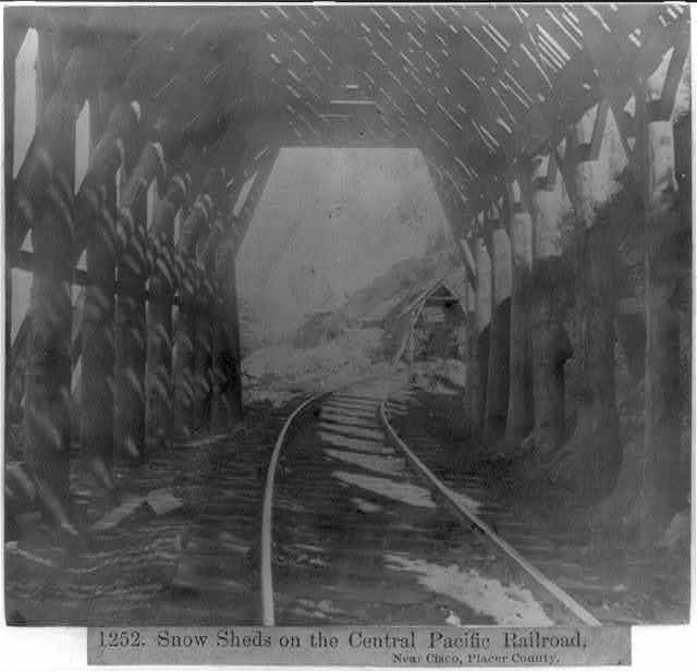 Snow Sheds on the Central Pacific Railroad, near Cisco, Placer County