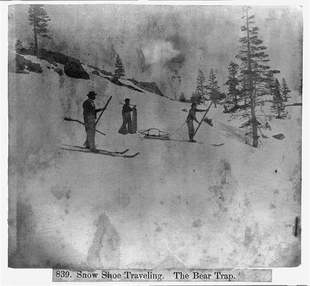 Snow shoe travelling - The Bear Trap