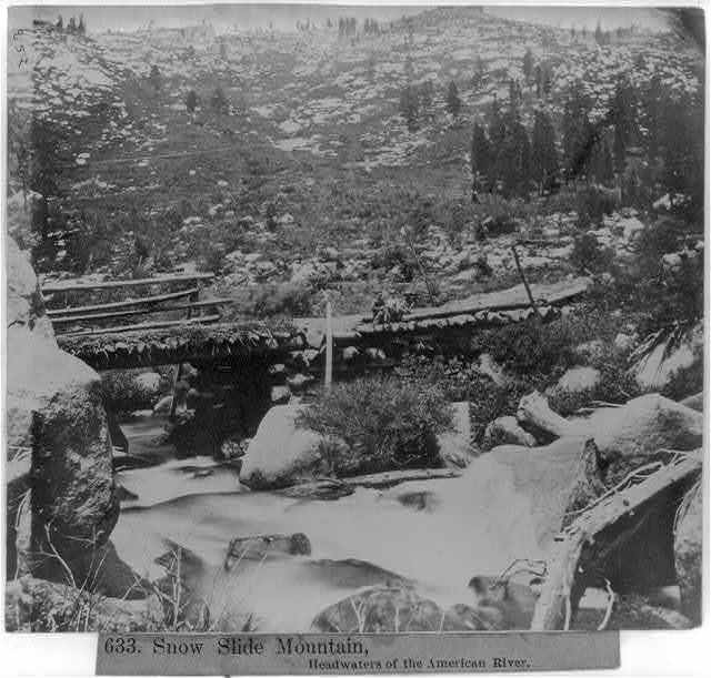 Snow Slide Mountain, Headwaters of the American River