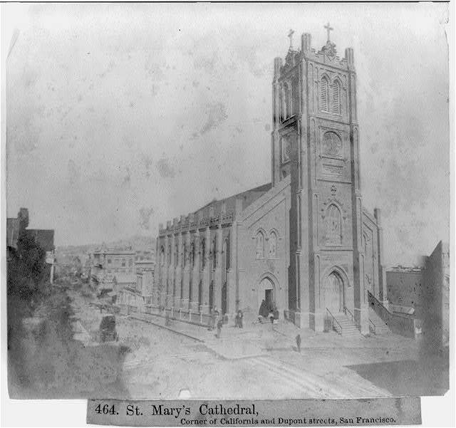 St. Mary's Cathedral - Corner of California and Dupont Streets, San Francisco