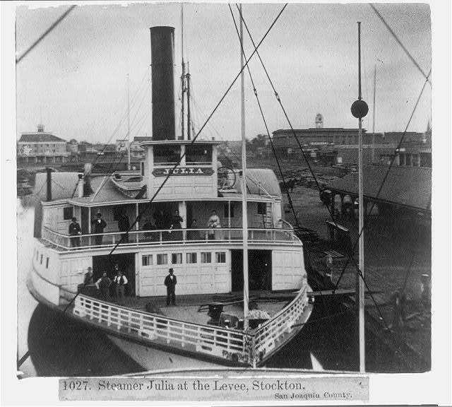 Steamer Julia at the Levee, Stockton, San Joaquin County