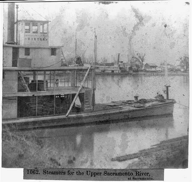 Steamers for the Upper Sacramento River, at Sacramento