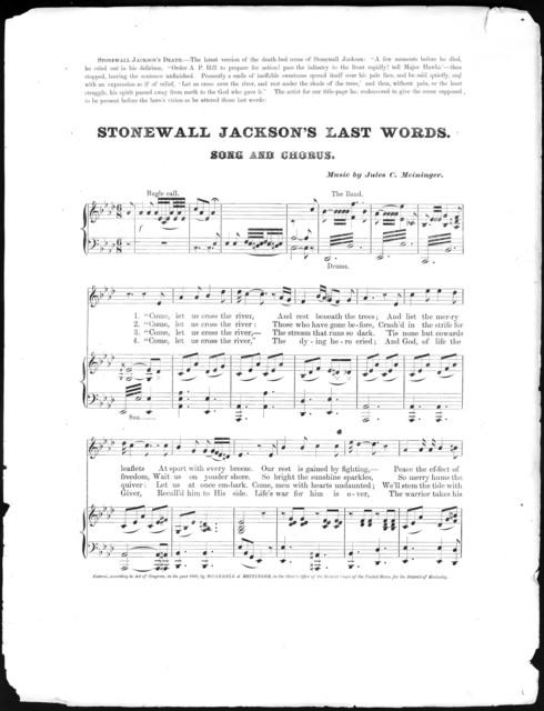 Stonewall Jackson's last words