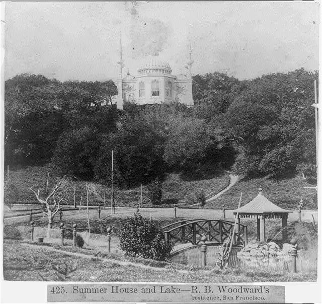 Summer House and Lake--R.B. Woodward's residence, San Francisco